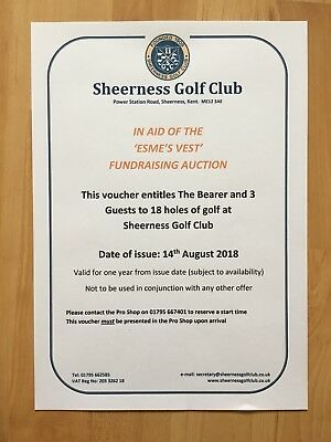 Complimentary 4 Ball At Sheerness Golf Club (Golf Gift)