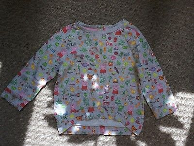 Next Girls jumper Peppa pig 12 -18 months