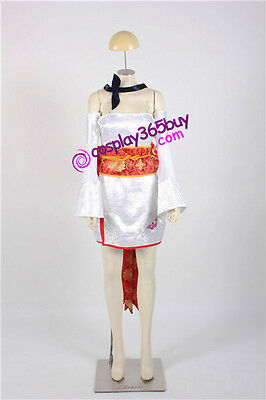 Dead or Alive Ayane Cosplay Costume white brocade version include long stockings