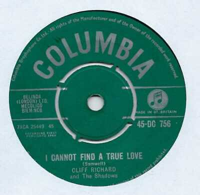 "Cliff Richard - I Cannot Find A True Love - 7"" Record Single"