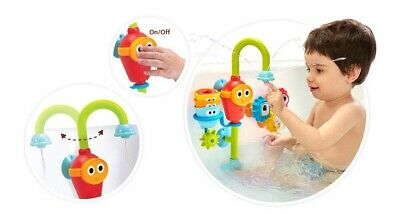 Kids Bath Toys Spin N Sort Spout Pro 3 Stackable Cups Automated Spinning Suction