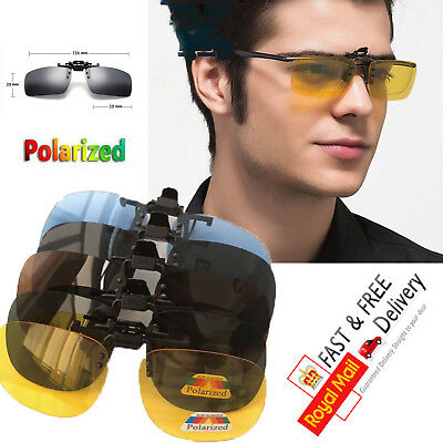 Anti-glare Night Driving Glasse - Clip on - Colored Lens - Polarized - Fast&Free
