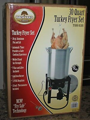 Backyard Classics 30 Qt Turkey Fryer  Complete Set with Welded Fry Safe NIB