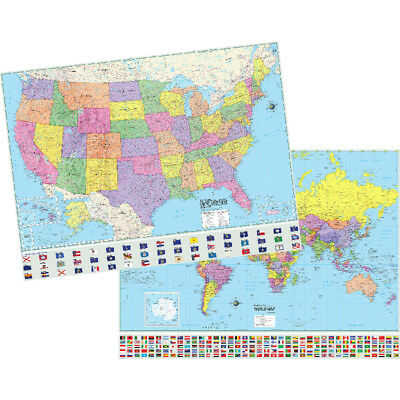 Kappa Map Us & World Adv Politcal Map Set Rolled 46X36 2982227