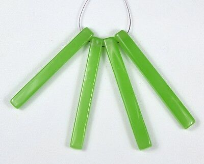 Natural Green Onyx Faceted Cube Beads 4pcs (41mm to 44mm Each) 42.05cts