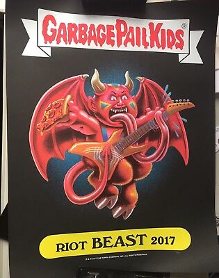 Garbage Pail Kids Limited Edition Poster Riot Fest Beast