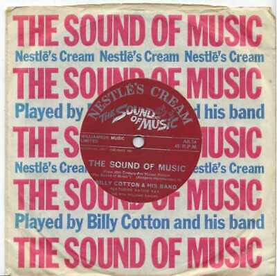 "Billy Cotton & His Band - The Sound Of Music - 7"" Record Single"