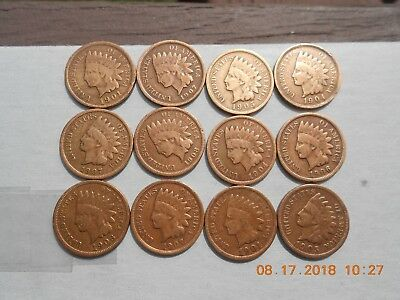 Roll (44) of Indian Head Cent Penny Bronze Coins