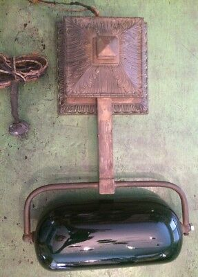 Vintage Emeralite Piano Student Lamp Light Pull Chain Fixture