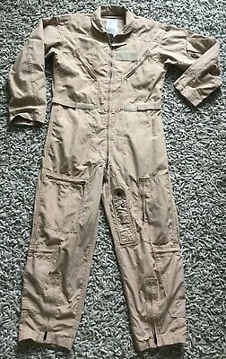 USAF US CWU-27/P Nomex Lightweight Summer Flight Suit  Aircrew Air Force Tan S40