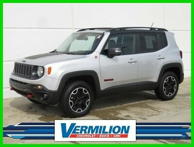 Jeep Renegade Trailhawk 4x4 2017 Trailhawk 4x4 Used 2.4L I4 16V Automatic 4WD SUV Moonroof Premium