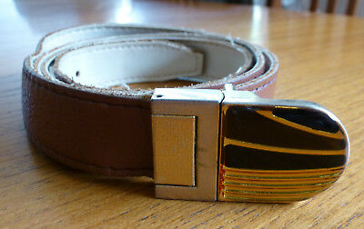 Mens Vintage Brown Belt 22mm Wide, 110.5cm / 43in Long ~ Made in Hungary