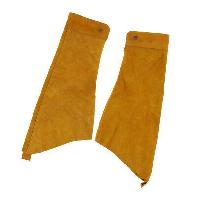Yellow Welding Sleeves Button Cuff Arm Protector Protective Splatter Split