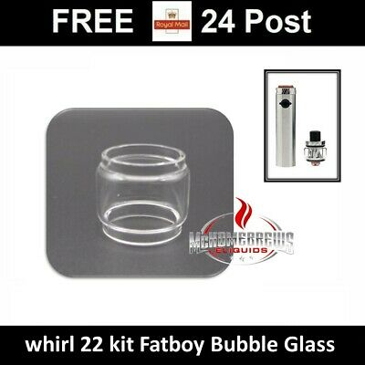 Replacement Pyrex Glass Fatboy Bubble for use with UWELL Whirl 22 Tank