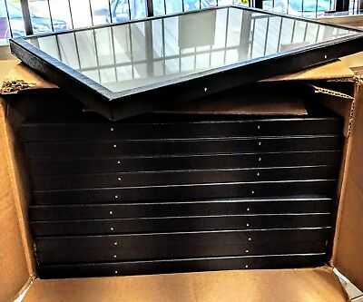 11 Brand New Riker Mount Display Case Lot