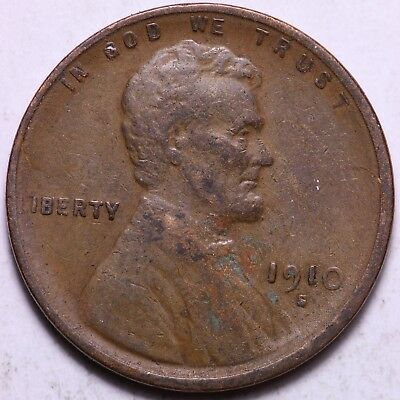 1910-S Lincoln Wheat Cent Penny           R11RB
