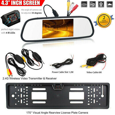 7 inch HD Dual Lens Car DVR Dash Cam Front and Rear Mirror Camera Video Recorder
