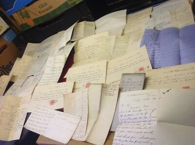 D, Old Documents, Receipts Letters Etc Bottom  Of Box Mix ,plenty Of Sorting ,