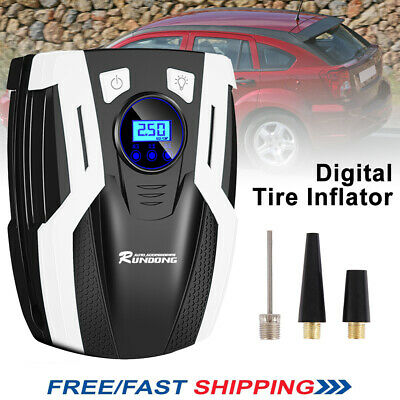 Portable 12V Car Truck Van Digital Tyre Tire Inflator Air Compressor Pump +Light
