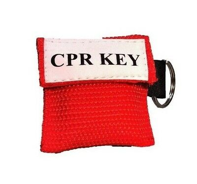 """1 Red Facial Shield CPR Mask in Pocket Keychain - """"CPR Key"""""""