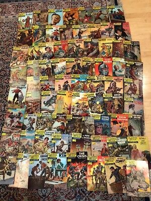 Vintage Classics Illustrated Comic Books 25¢Cent HUGE Lot of 73 From The 60's