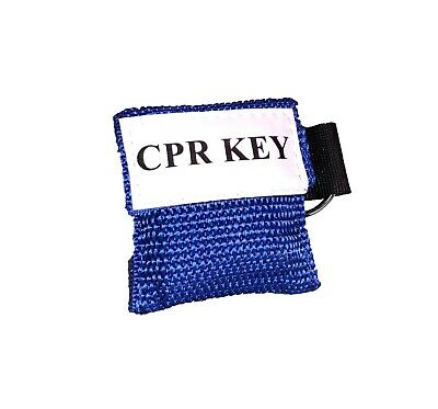 """1 Blue Facial Shield CPR Mask in Pocket Keychain - """"CPR Key"""""""