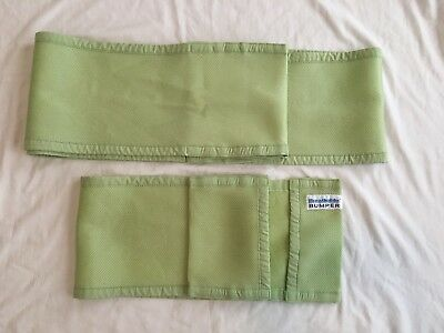 Breathable Baby Breathable Bumper Green Mesh Crib Liner