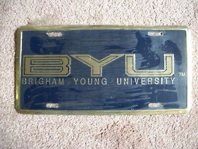 BRIGHAM YOUNG-BYU-EMBOSSED LICENSE PLATE-UNUSED in SHRINK WRAP