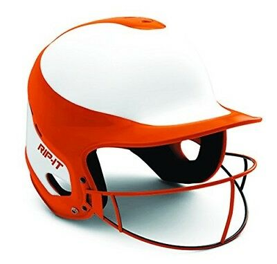 (Medium/Large, Orange) - RIP-IT Vision Pro Softball Helmet ft. Blackout