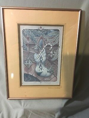 """Randal Spangler Hand Signed & Numbered """"Stocking Stuffers"""" Lithograph - Framed"""