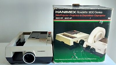 Hanimex Slide Projector Rondette 1800 Series With Original Box And Instructions