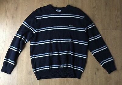 Mens Vintage Lacoste Jumper 90s Well Loved Well Worn Vintage Grunge Size: Large