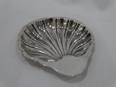 Vintage Sterling Silver Scallop Shell Candy Nut Dish