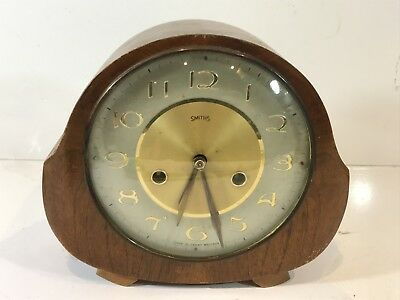 Vintage Smiths Shelf / Mantel Clock : Mechanical Windup Collectable - Untested