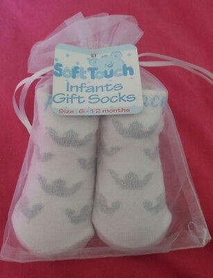 Baby Boy Socks *Prince* 6-12 months White