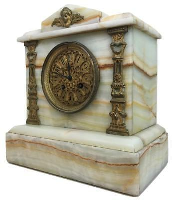 Antique 19thC Japy Freres French France Ormolu Oxyx 2nd Empire Mantle Clock RUNS