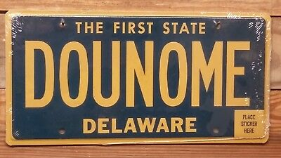 Delaware Non-Issued Vanity License Plate/Tag ~ DOUNOME ~ Flat