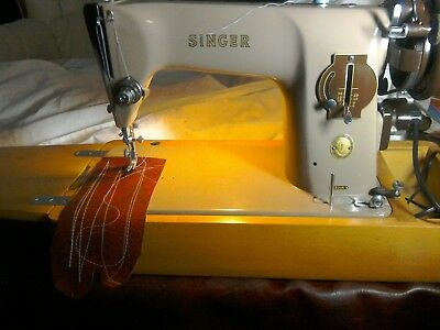 Singer 201k electric sewing machine See It On YouTube FREE POSTAGE IN UK no2