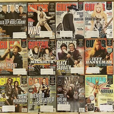 Guitar World 2013 Lot Entire Year Good Condition (Nirvana Led Zeppelin The Who)