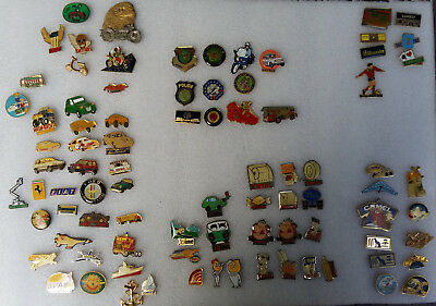 Lot De 86 Pins - Divers Themes : Fdj, Tabac, Total, Police, Voiture, Transports