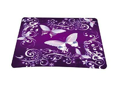 Rubber Mouse Pad Non-Slip Gaming Rectangle Mousepad Purple Butterfly For Gamers