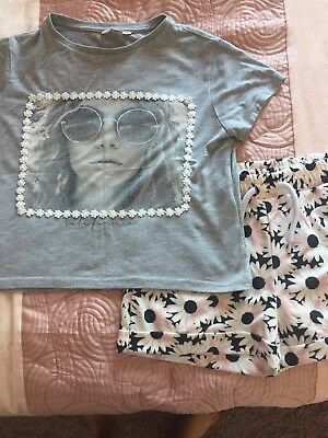Girls T-shirt And Shorts Outfit River Island 9-10