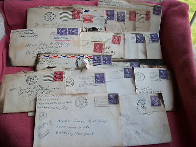 Very Collectible lot (20) Old Ephemera-Military-Marine Corps.-Letters-Old Stamps