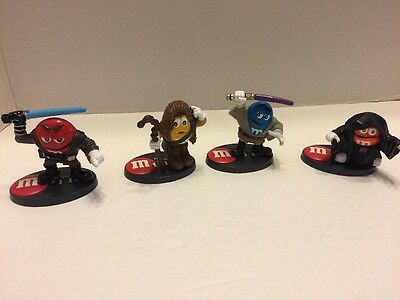 M&M Star Wars M Pire Figures Lot Of 4 With Stands Lot Of 4