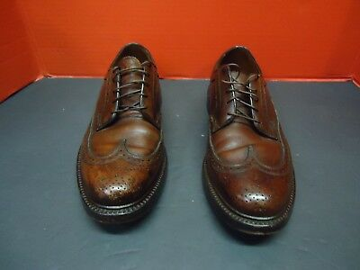 Florsheim Mens Shoes  Imperial DualityTip Leather Burgundy Wingtip 8.5