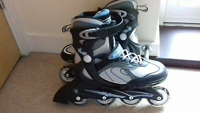 Ladies Blade Runner roller blades, UK size 5, black and grey, brand new.