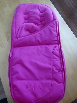 iCandy Apple 2 Pear Luxury Footmuff in Lipstick Pink Brand New