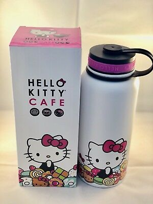 'New' Hello Kitty Cafe Limited Edition 18oz Stainless Thermal Bottle