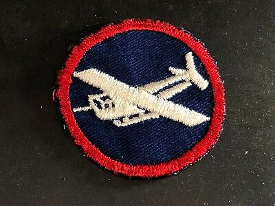 WWII Patch US Army AAF Glider Overseas Hat Cap badge Cotton Twill Embroidered