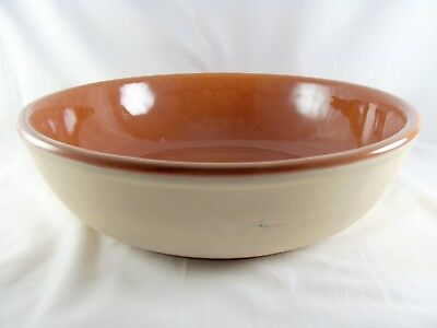 """Great American Stoneware Factory Serving Bowl, 12-3/8"""", Western, Monmouth, vtg"""